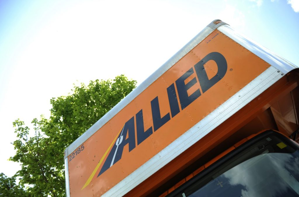 Allied Moving Truck Roof and Front View