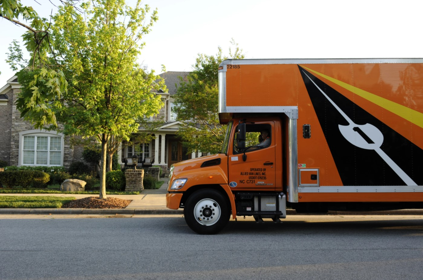 Allied Moving Truck in Front of a Home