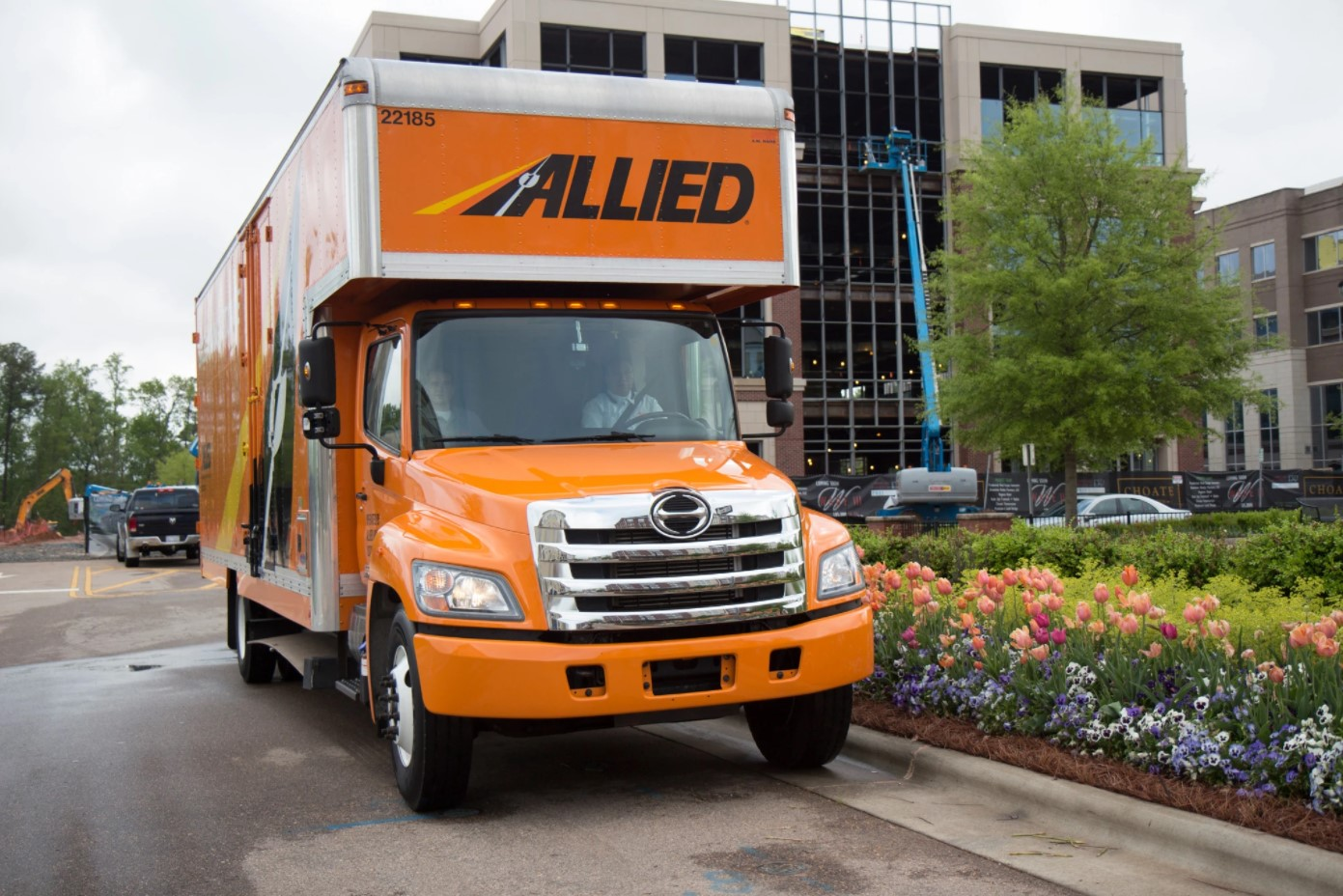 Allied Van Lines Truck Ready for a Corporate Move