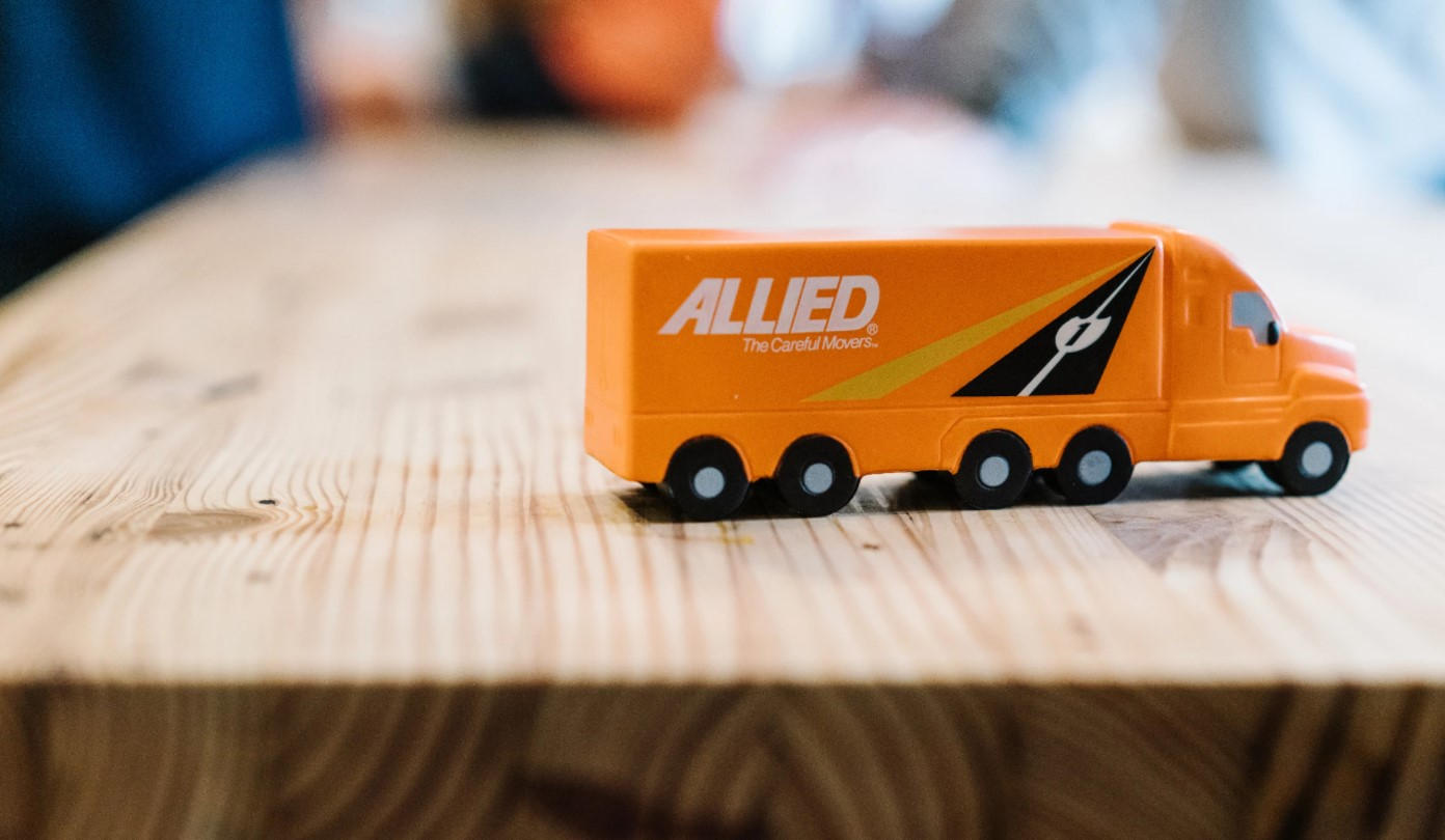 Model Allied Moving Truck on a Table